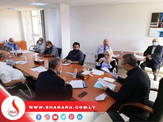 الاجتماع الدوري الثاني لسنة 2020 للسيد المدير العام مع مدراء الإدارات بالشركة