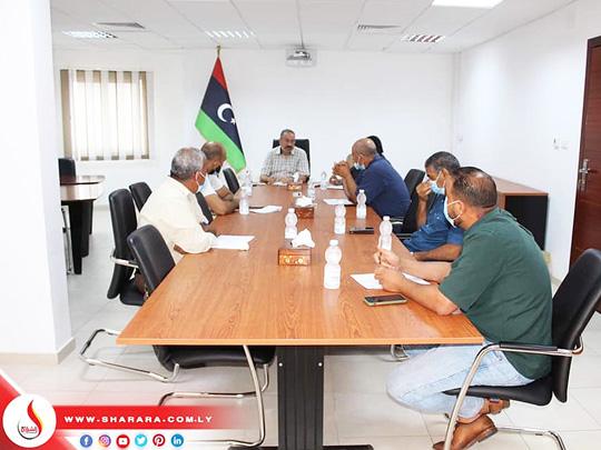 إجتماع السيد المدير العام ببعض الإدارات لمراجعة منظومة الأصول