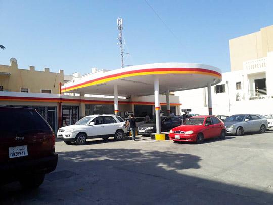 صورة لمحطة وقود بن عاشور بعد إجراء عمليات الصيانة والتطوير من طرف شركة الشرارة الذهبية للخدمات النفطية