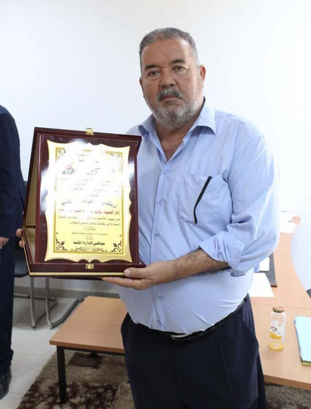 حفل تكريم السيد خالد محمد القمودي أحد العاملين بشركة الشرارة الذهبية