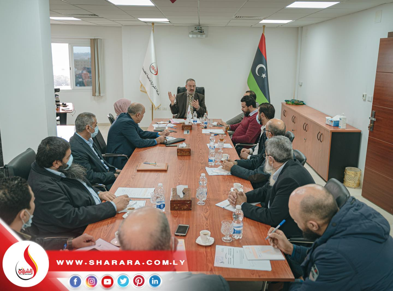 إنعقاد الإجتماع الدوري الأول لسنة 2021 للسيد المدير العام مع مدراء الإدارات والمكاتب بالشركة