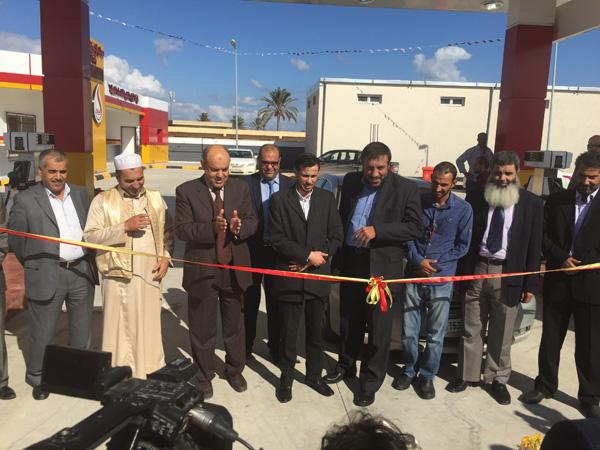حفل افتتاح محطة وقود سوق أسبان